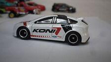 2017 Hot Wheels White Koni  Ford Focus Custom Real Riders