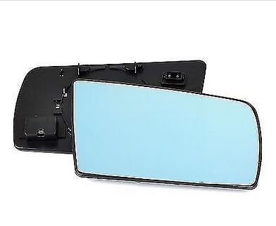 MERCEDES W202 W210 W140 RIGHT MIRROR WING GLASS CONVEX BLUE 2-PIN CONNECTOR ds
