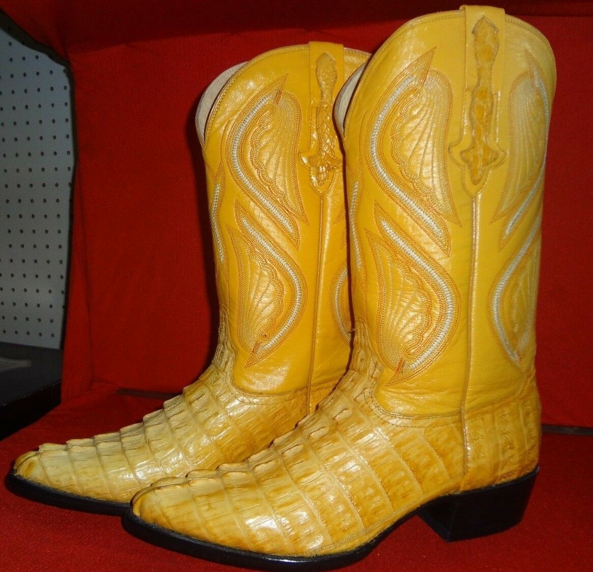 Men's Exotic CAIMAN Western Cowboy stivali By R.B.  C42