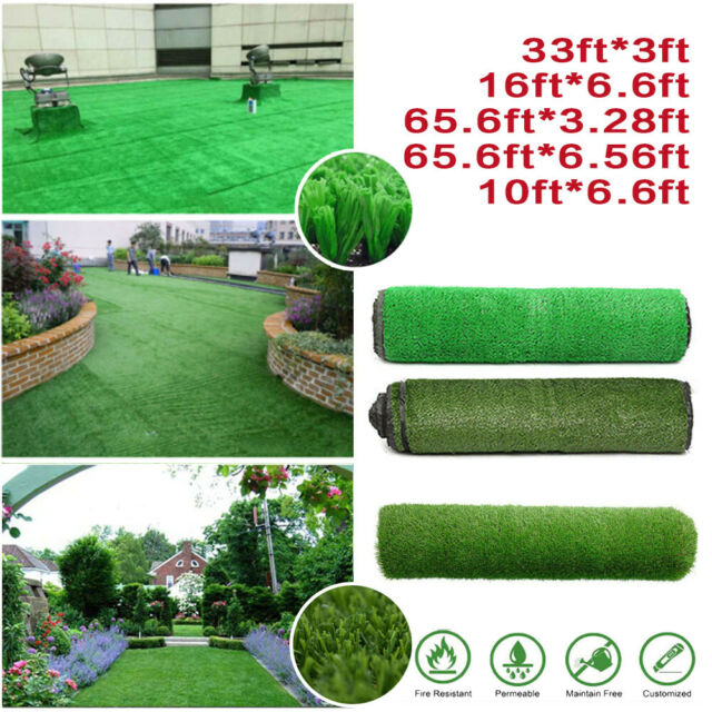 4 X 25 Outdoor Artificial Turf Black Synthetic Grass Carpet For Sale Online Ebay