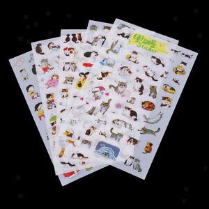 6 Sheet Lots Kawaii Transparent Korean Stickers DIY Album Planner Decoration