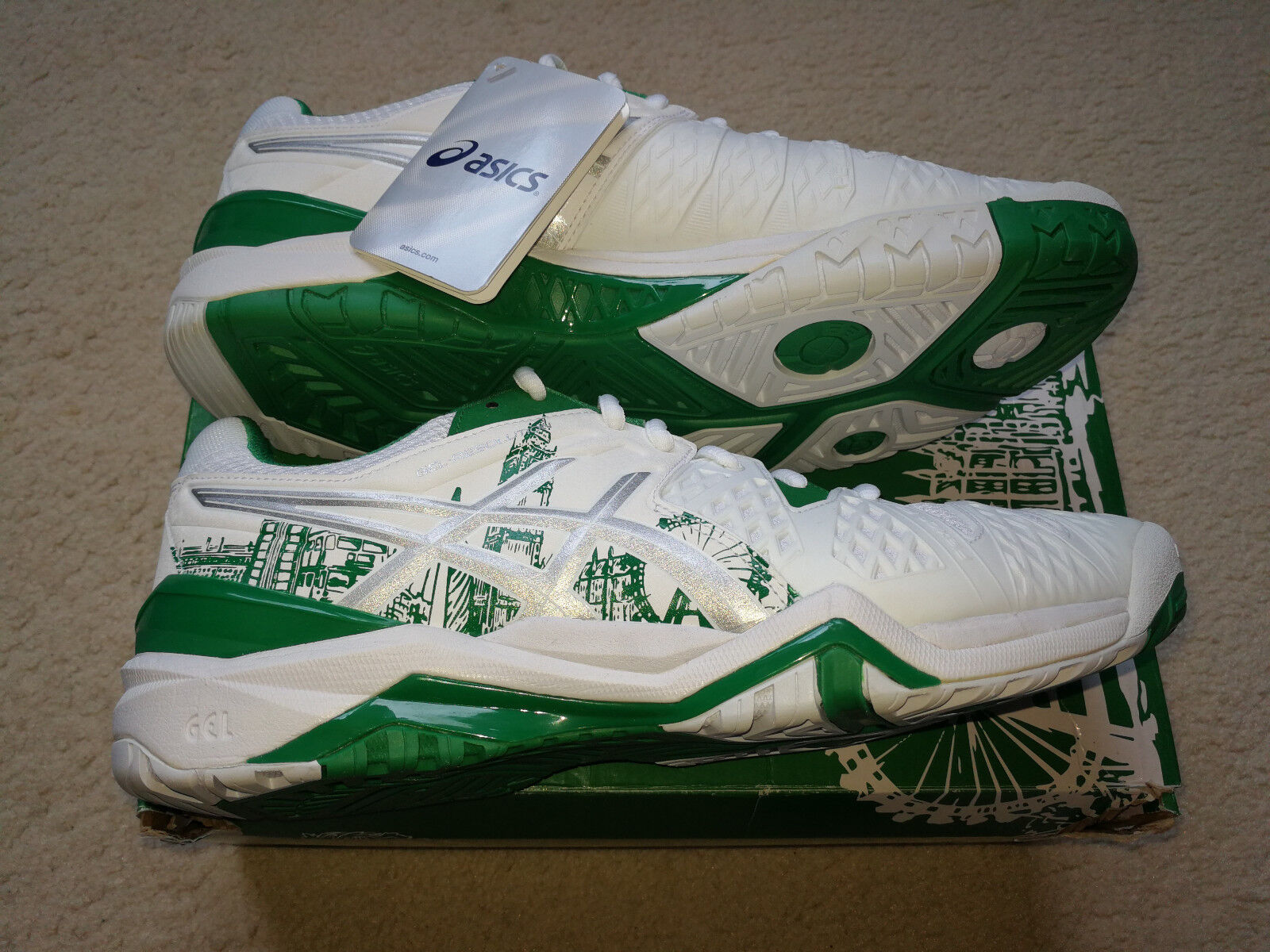ASICS Gel-Resolution Gel-Resolution Gel-Resolution 6,Limited E. London(Wimbledon),Men's Tennis shoes,Size 9.5 92e7e3
