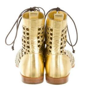 1200-PROENZA-SCHOULER-034-Lattice-034-Lace-Up-Laser-Cut-Leather-BOOTIES-EU-40-US-10