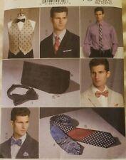 NEW Vogue 9073 Men's Vest Cummerbund Ties Bowties and Pocket Square - All Sizes