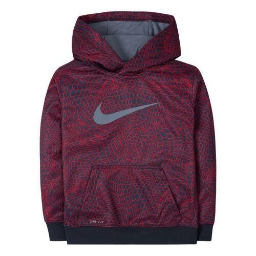 NEW Nike Therma DRI-FIT Red//Black Hoodie Sweatshirt MSRP $44