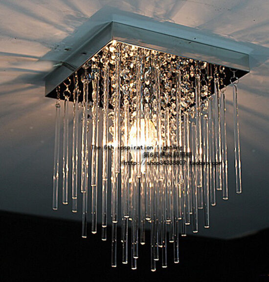 20cm Led Aisle Crystal Ceiling Light Fixture Pin Lamp Lighting Chandelier