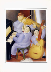 Fernando Botero Three Musicians 1983 Colombian Artist5x7 Notecard