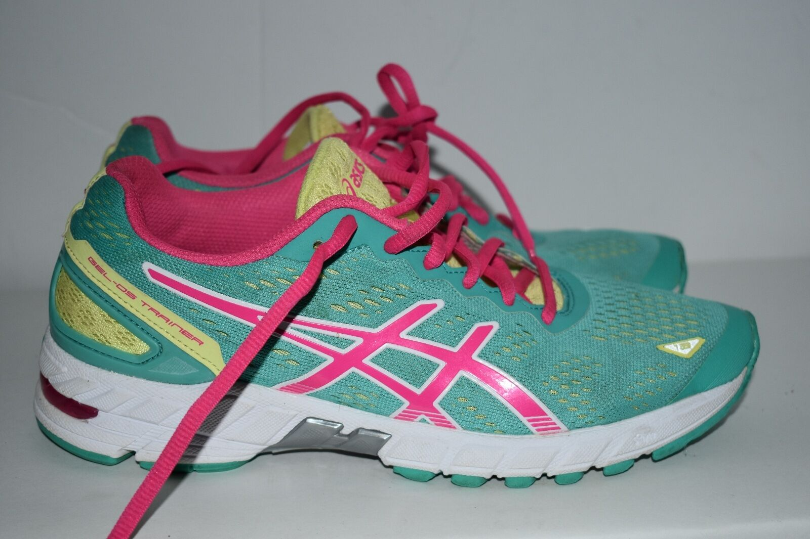 ASICS GEL-  DS WOMENS TRAINER RUNNING SHOE SIZE 7.5 GREEN  PINK T455N  save 60% discount