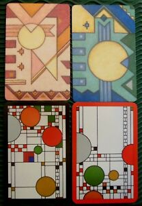 Frank Lloyd Wright Deco Designs - 4 Modern Swap Playing Cards