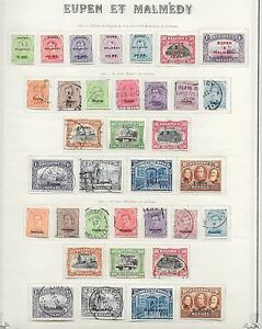 German Occupation Of Belgium Stamps 1920 Obp Bz55 Bz78 84 100 Cat Value 460 Ebay