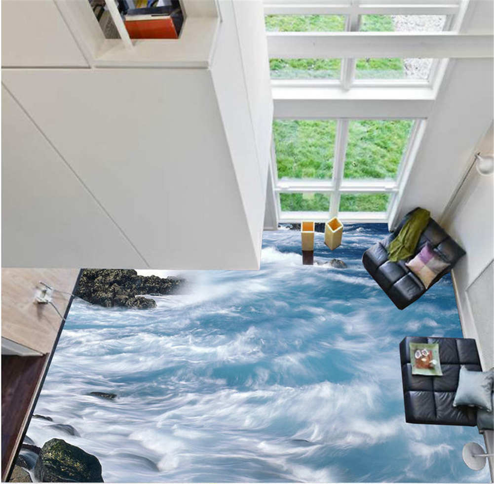 Galedriven Rain 3D Floor Mural Photo Flooring Wallpaper Home Printing Decoration