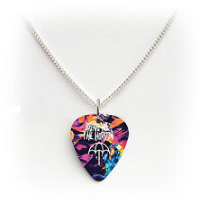 BRING ME THE HORIZON BMTH guitar pick plectrum silver tone curb plated NECKLACE