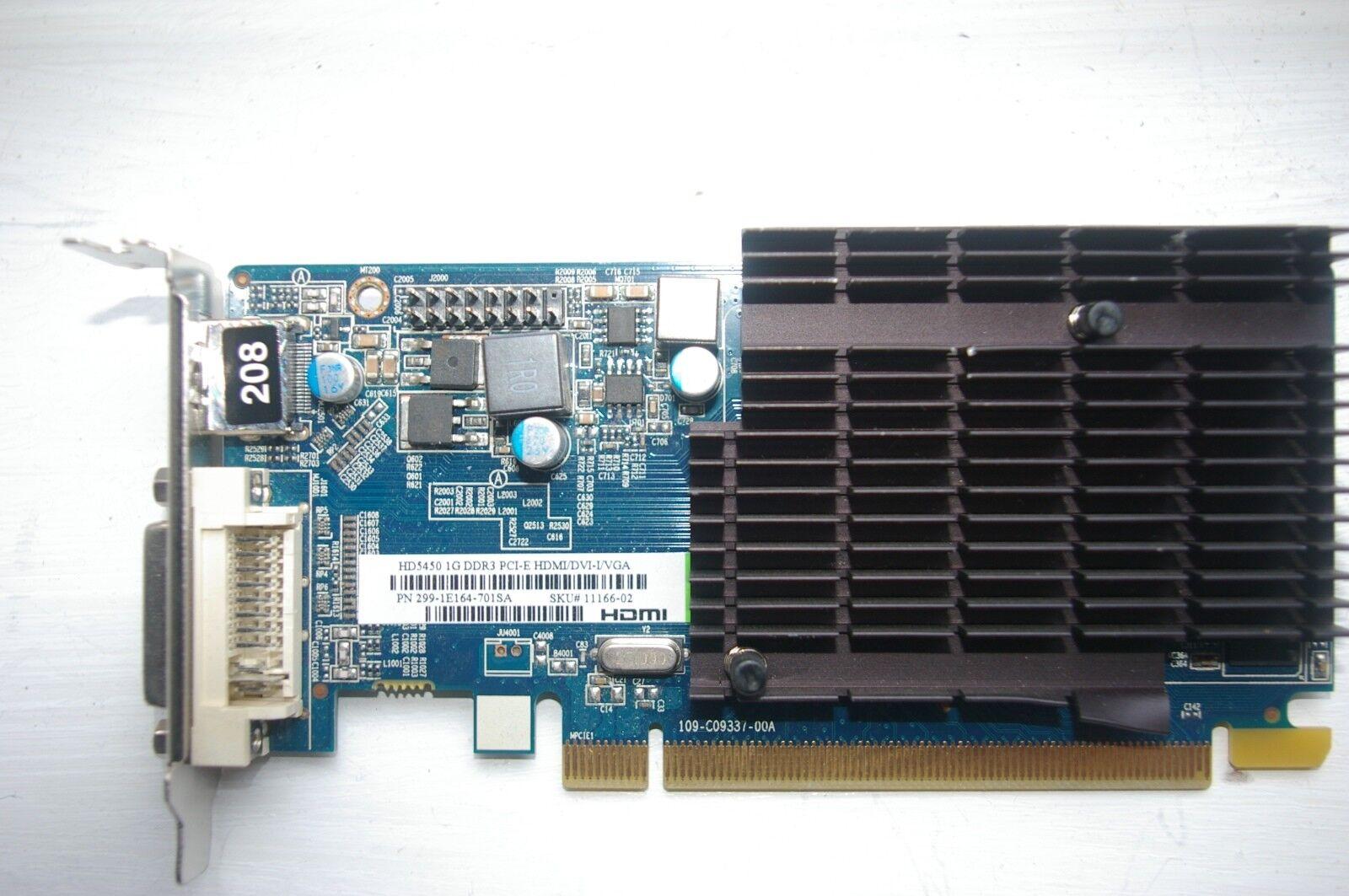 SAPPHIRE ATI AMD RADEON HD5450 CEDAR 1GB PCI-EX16 HDMI/DVI