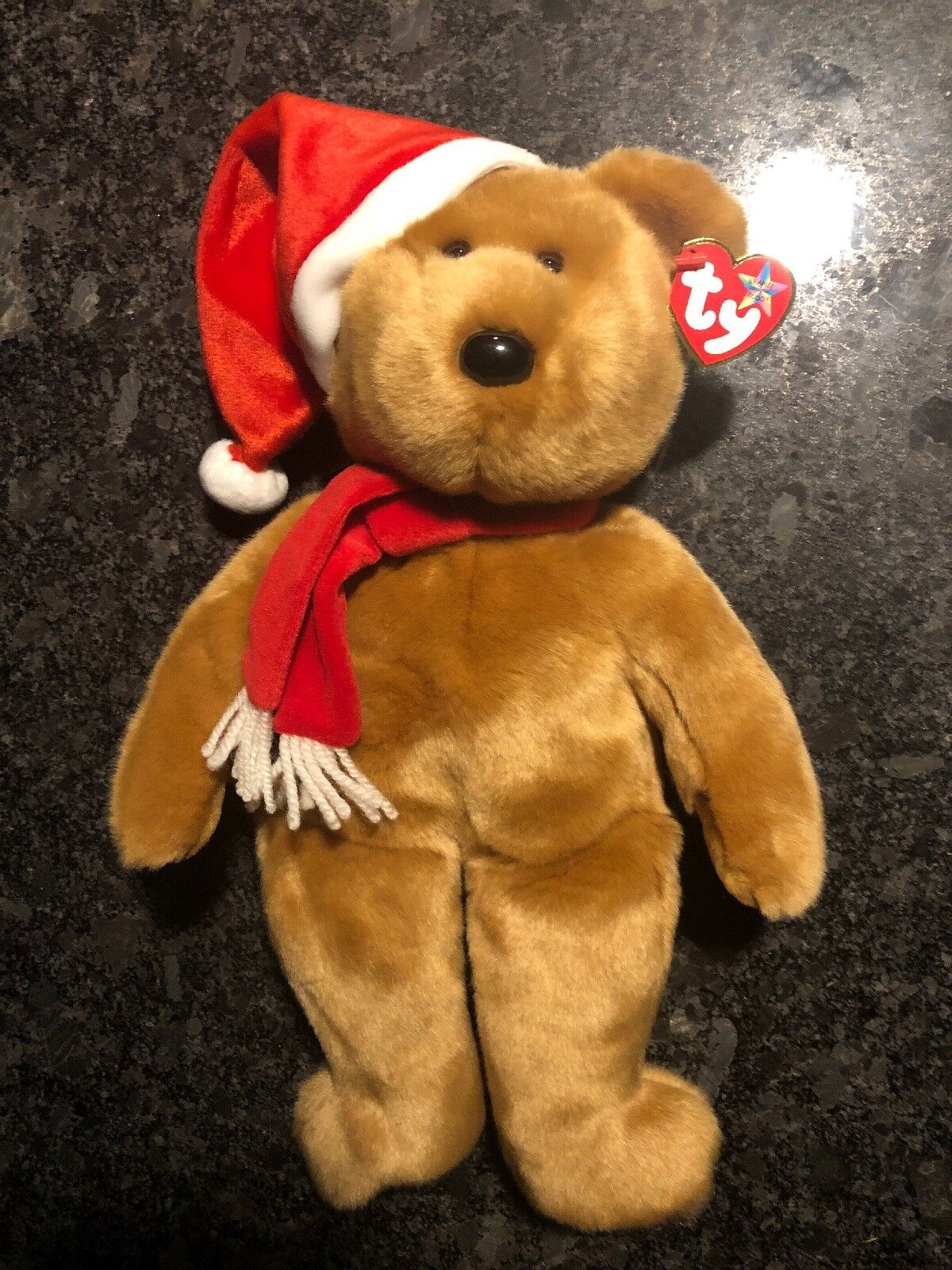 1997 Ty 1997 Holiday Teddy Bear Plush Beanie Buddy 15  ERRORS 2001 Tushtag