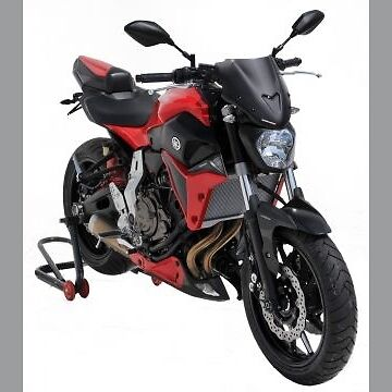 Yamaha MT07 Sport Screen (27cm) : Dark Smoke 030203121