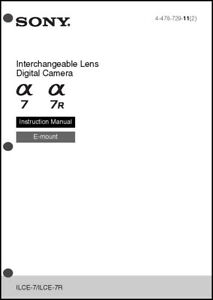 sony alpha a7 a7r digital camera user guide instruction manual ilce rh ebay com Instruction Manual Example User Manual