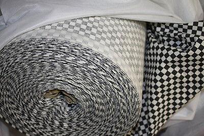 2 Meter Stoff 1,40 m breit kleines Karo 0,7 x 0,7 cm Rennkaro schwarz-weiß