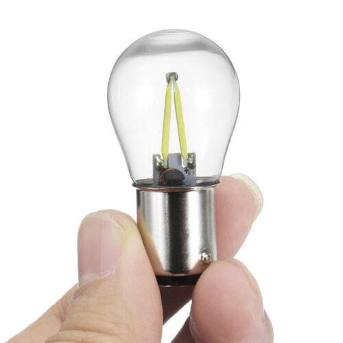 2x 1156 P21W BA15S LED Car Turn Signal Light Backup Reserve rake Bulb 12V White