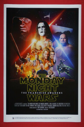 WWE Monday Night Wars Franchise Live Wrestling Photo Poster 24X36 New WWEM