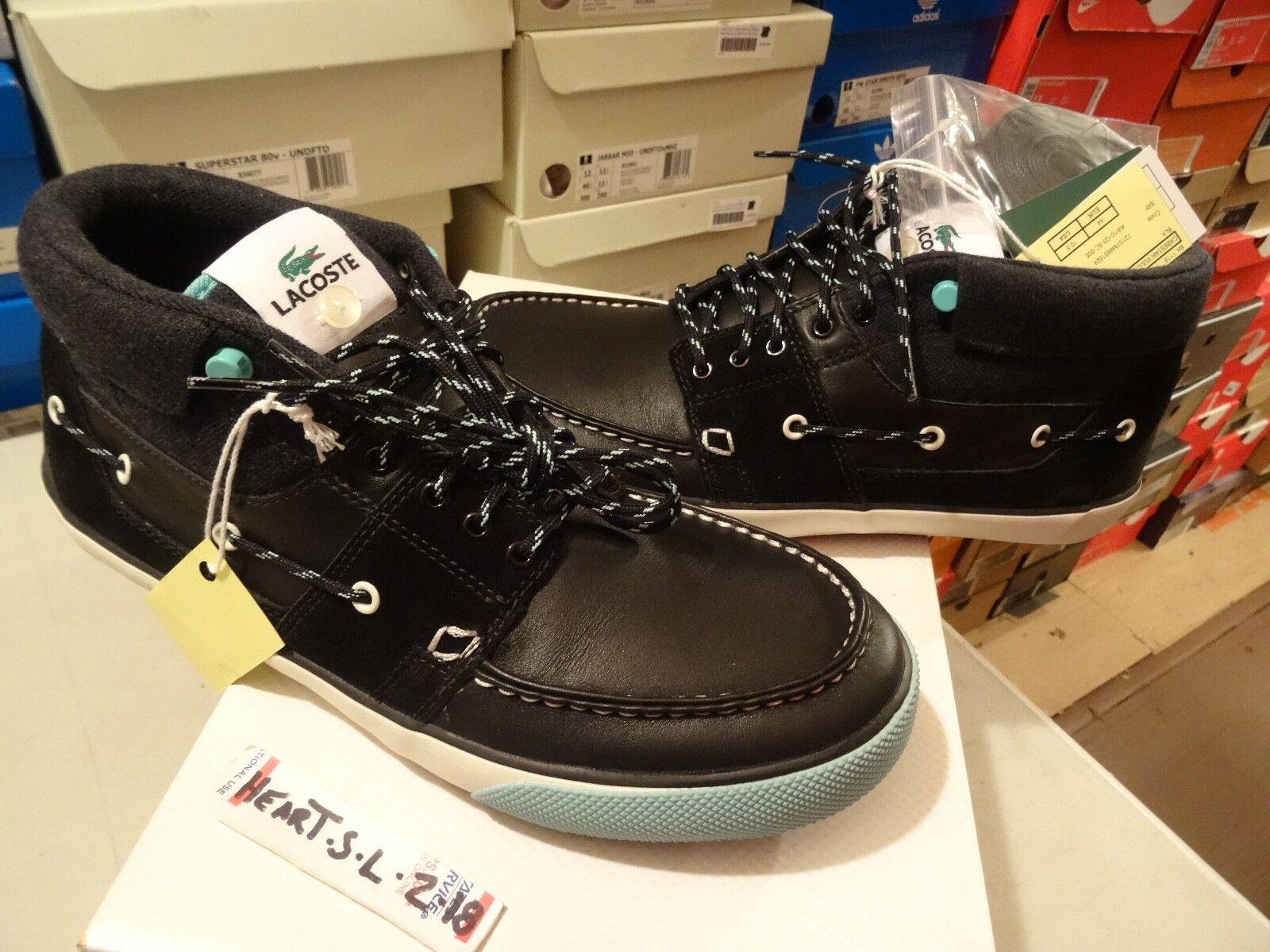 NEW LACOSTE LEGENDS CABESTAN VULC MID LSF2 STM scarpe da ginnastica FREAKER BLK blu SZ 10.5