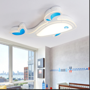 Details about LED Dolphin Ceiling Lamp Kid\'s Room Flush Mounted Lighting  Bedroom Ceiling Light