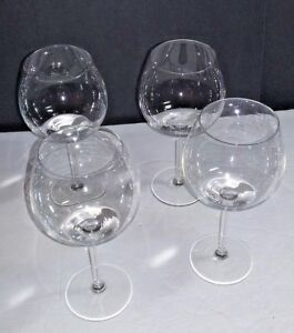 4-CLEAR-GLASS-RED-WINE-GLASSES-BAR-HOME-KITCHEN-DECOR