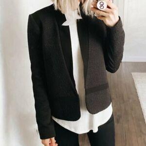 TROUVE Jacket Blazer Black Open Front Modern Hi Low, Women's Size S