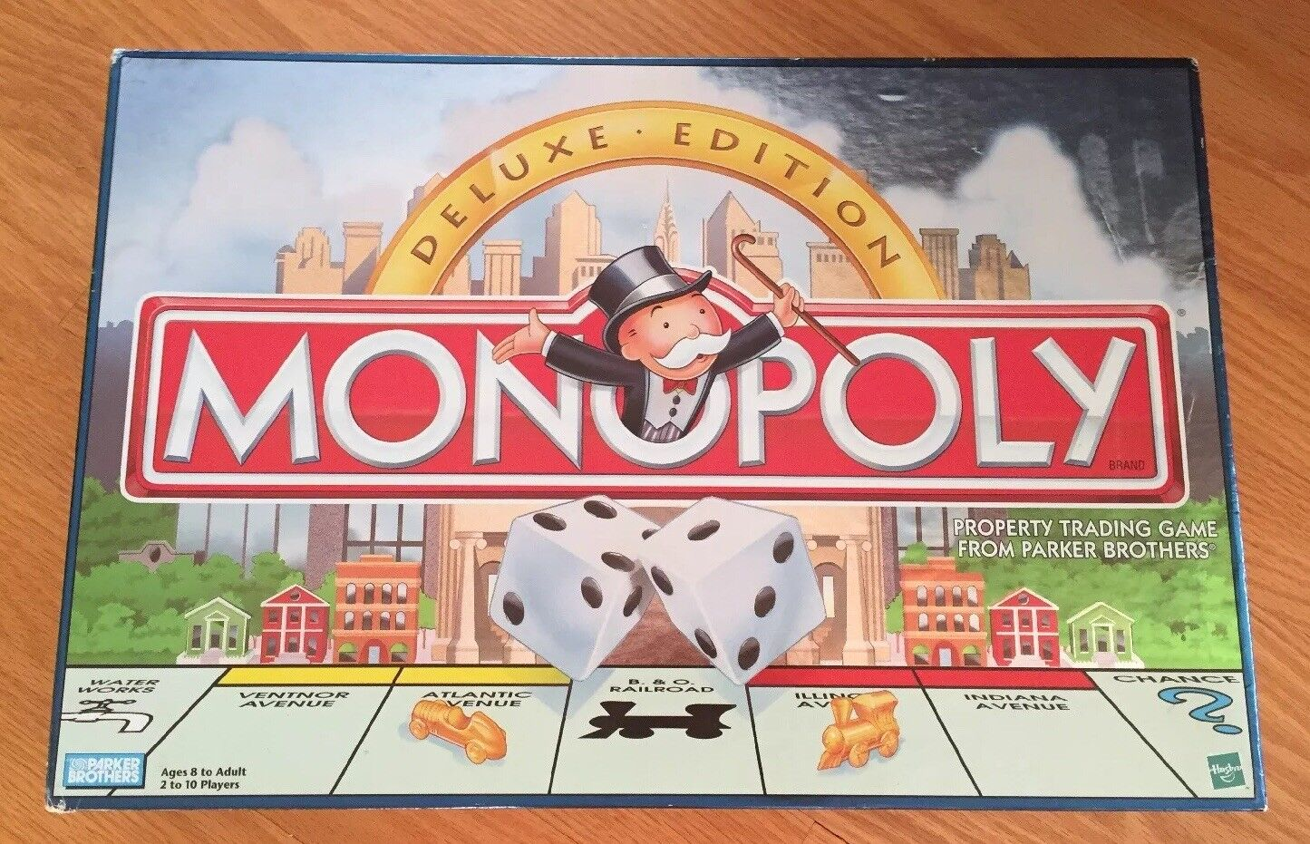Hasbro parker brothers monopol deluxe edition brettspiel, 1998