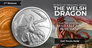 THE-WELSH-DRAGON-1-oz-Silver-Round-Coin-World-of-Dragons-2-of-6-In-Stock