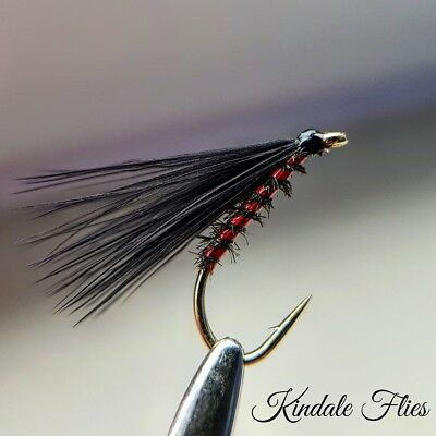 Hothead Holographic Ribbed Cormorant Size 14 Set of 3 Fly Fishing Flies Fry