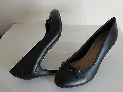 Black Bow Stiletto Shoes Size 9 Wide Fit (E Fit) Shoes New From Evans