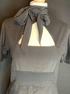 SPORTMAX  MAX MARA Ladies Silk & Wool Paneled Pencil Dress Size L (K1)