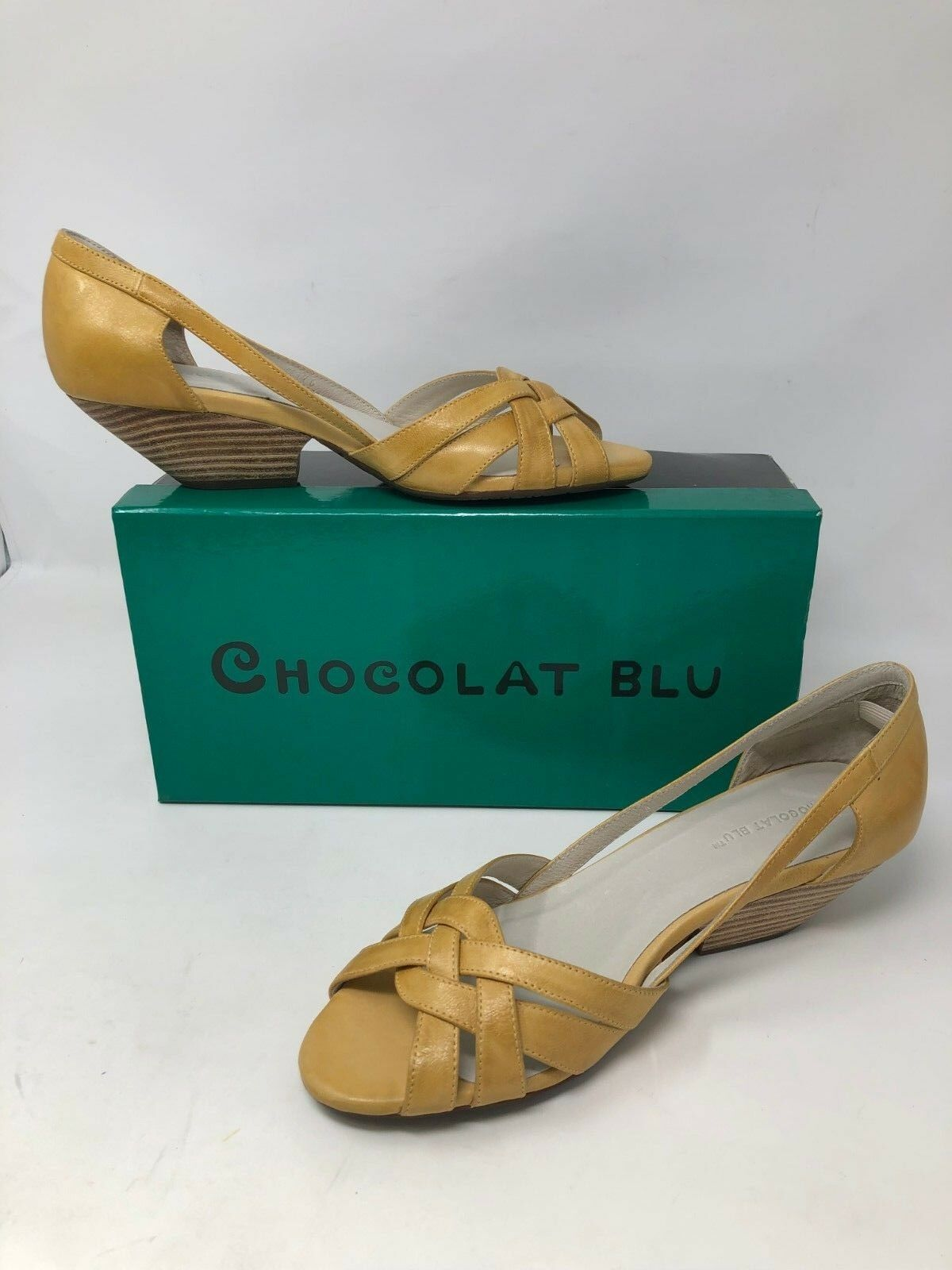 New In Box    femmes Chocolat bleu Gilly Dress Sandals Mustard 38L