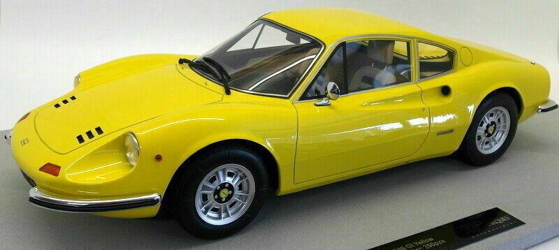 1 12 top marques top12-02b Ferrari Dino 246 GT 1969 amarillo limitado 250 unid.