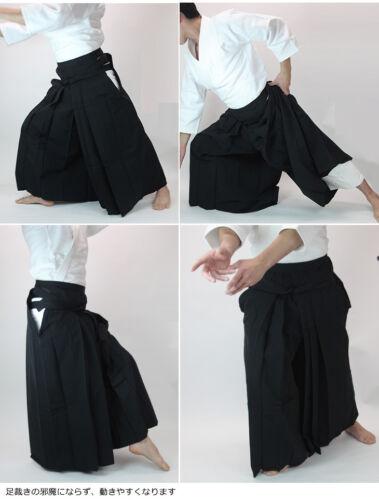 KUSAKURA Japanese Aikidogi Aikido Hakama Pants skirt Black Made in Japan New
