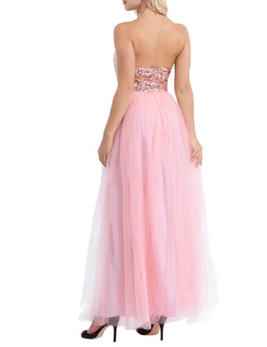 Women/'s Lace Chiffon Evening Cocktail Dress Bridesmaid Evening Prom Party Gowns