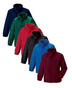 Russell-Jerzees-875B-Childs-Boys-Girls-Kids-Reversible-Fleece-Jacket-Raincoat