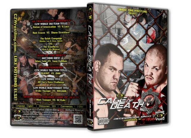 CZW Wrestling Cage of Death 14 DVD Combat Zone AR Fox Sami Callahan DJ Hyde