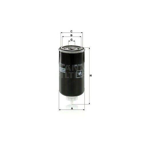 1 carburant filtres MANN-FILTER WK 724//4 convient pour VOLVO Yanmar GEHL