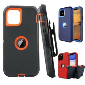 For iPhone 12 Pro Max 11 6 7 8 Rugged Case Cover W/ Belt Clip+Screen Protector