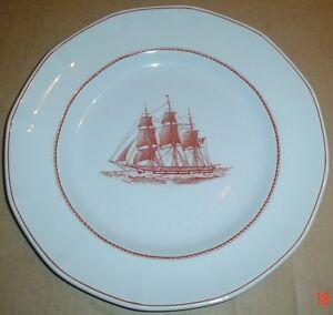 Wedgwood-Salad-Or-Dessert-Plate-FLYING-CLOUD-Ship