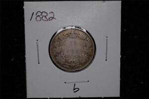 1882 - 25 CENTS - CANADA - See pictures for condition