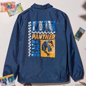 215ce5b24 AUTHENTIC VANS x Marvel Comics BLACK PANTHER Torrey Jacket Mens SZ L ...