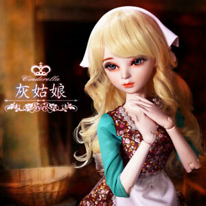 "New 24/"" 1//3 Handmade PVC BJD MSD Lifelike Dolls Joint Dolls Girl Gift Christine"