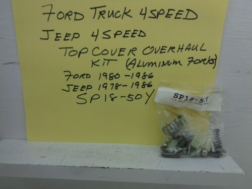 FORD TRUCK 4 SPEED T18 TRANSMISSION TOP COVER SMALL PARTS KIT SP18-50Y