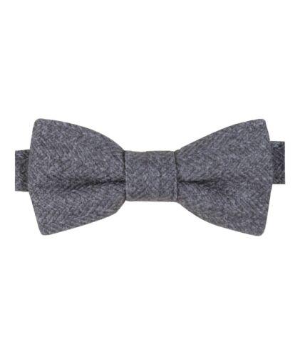 Mens Kids Boys Matching Herringbone Tweed Dickie Bow Tie in Grey