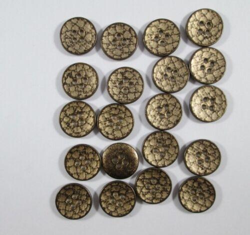 Botón de metal botones 20 piezas de latón Hammer golpe 15 mm #1162#