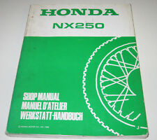 Werkstatthandbuch Honda NX 250 Kupplung Zylinder Getriebe Schmierung Stand 1988!