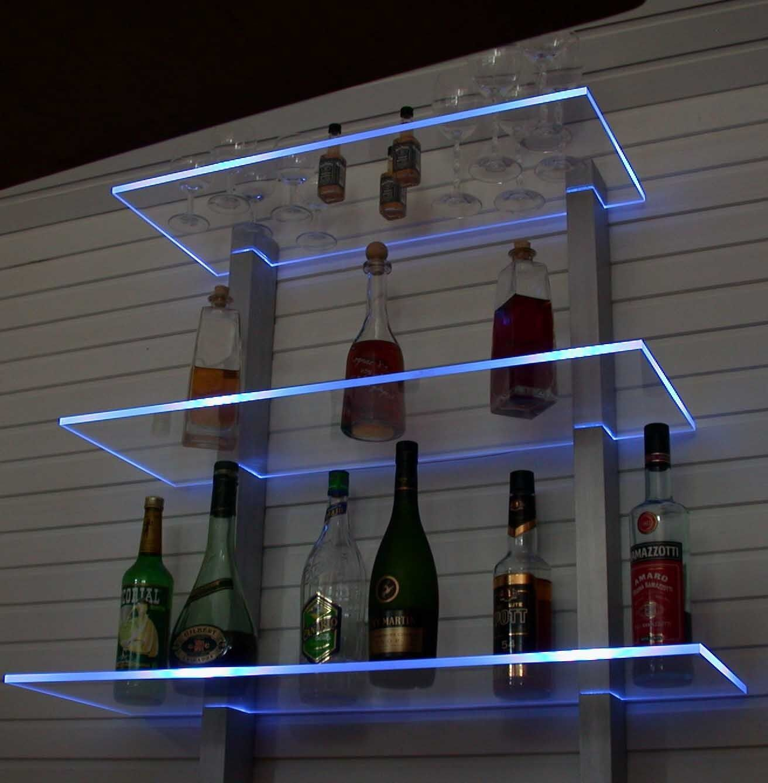 Bar étagère DEL éclairé idéal pour bouteilles ou verres