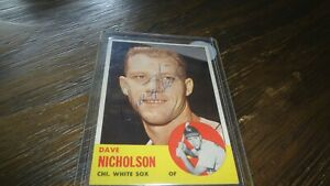 1963-TOPPS-DAVE-NICHOLSON-AUTOGRAPHED-BASEBALL-CARD